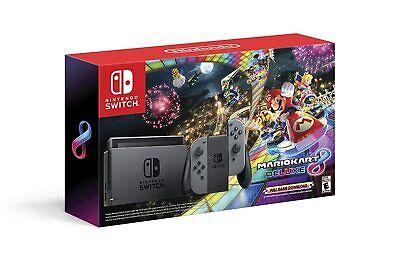 Brand New Nintendo Switch Bundle with Mario Kart 8 Deluxe - Gray bundle