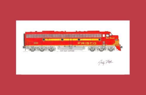 """Frisco E8 Sea Biscuit 11""""x17"""" Matted Print Andy Fletcher signed"""