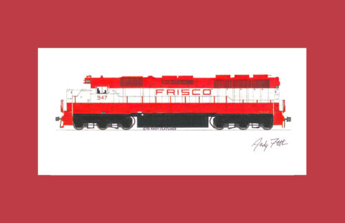 """Frisco SD45 11""""x17"""" Matted Print Andy Fletcher signed"""