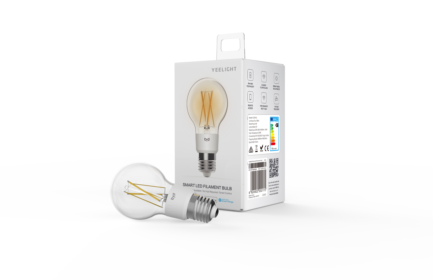 YEELIGHT Smart LED Filament Bulb - Lampadina Led WiFi Filamento 6W 700lm 2700K