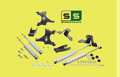 "1988 - 1998 Chevrolet GMC C1500 2"" / 4"" Drop Kit 2/4 Spindles Hanger + SHOCKS"