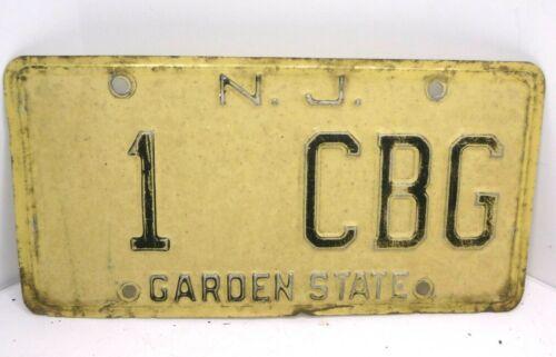 Vintage Cigar Box Guitar license plate new jersey #1 garden state