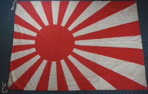 """Vintage Large Japanese Imperial Navy Rising Sun Flag 69"""" by 49-5/8"""""""