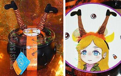 HALLOWEEN CAULDRON W/ WITCH HEADBAND & GUMMY CANDY fingers eyeballs bowl costume](Halloween Gummy Eyeball Candy)