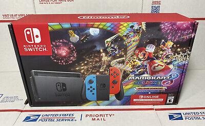 🔥🔥Nintendo Switch Mario Kart 8 Deluxe Bundle - New Sealed 🎄- SAME DAY SHIP