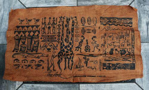 "Very Rare Souvenir Aberdare Forest Kenya Hand Crafted Bark Cloth 10""h x 18""w"