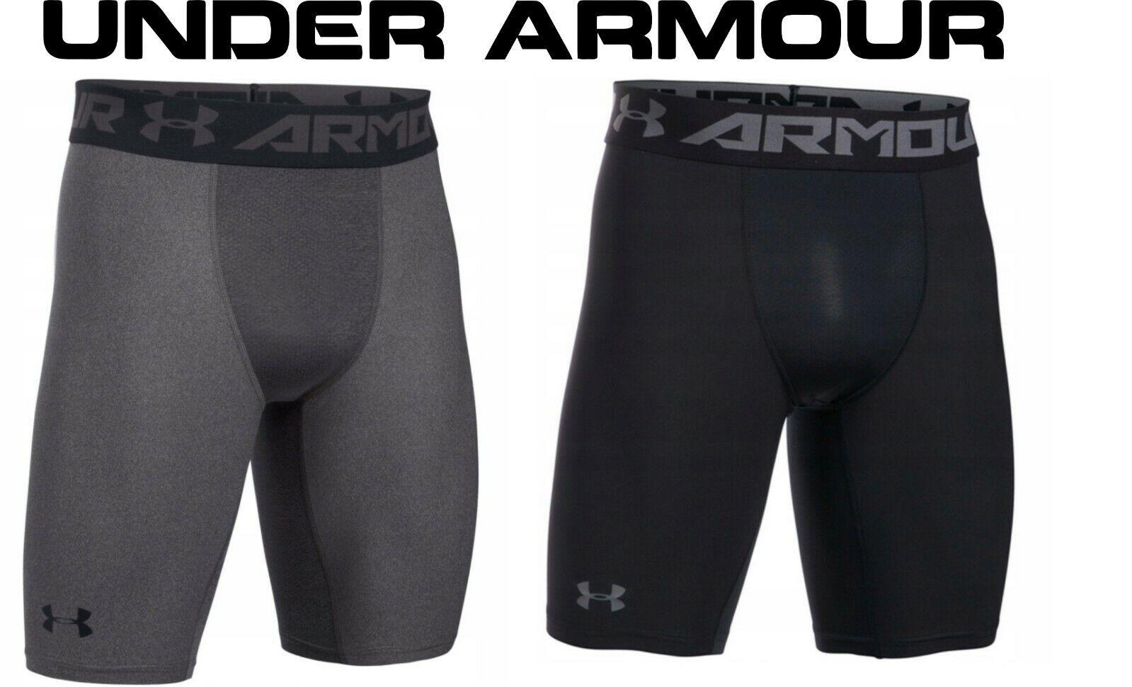 Under Armour HeatGear 2.0 Compression Long Short Hose carbon 1289568-090 Shorts