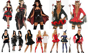 LADIES-HALLOWEEN-COSTUME-VAMPIRE-DEVIL-WITCH-ADDAMS-FAMILY-SWEENEY-TOD-SIZE-6-18