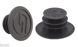 SRAM Mountain Bike Handlebar End Plugs Caps Black Plastic Bicycle Cycle