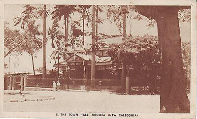 New Caledonia Noumea - City Hall old unused sepia postcard