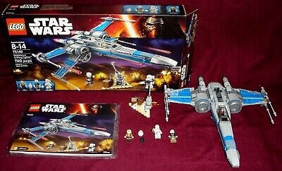 2016 LEGO STAR WARS TFA 75149 POE'S RESISTANCE X-WING FIGHTER 100% COMPLETE MINT