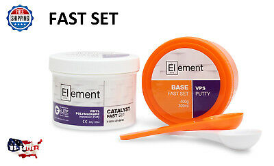 Element Putty Fast Set Vps Pvs Dental Impression 300 Ml Base Catalyst No Box