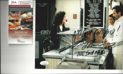 Seinfeld Soup Nazi  autographed 8x10 photo with Elaine on line  JSA Certified