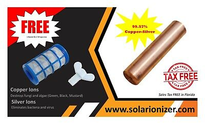 Chlorine-Free Sun Shock Replacement Copper Anode Outdoor Fish Pond Pools Durable Chlorine Free Pool Shock
