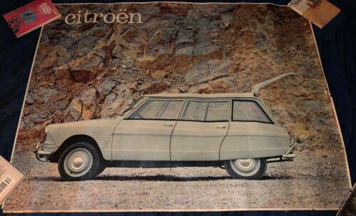 Rare Vintage Original Citroen Ami 6 Break Wagon Poster Dealership Ad 1960