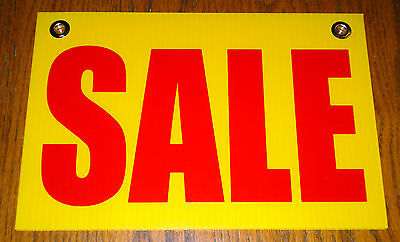 Sale 8 X 12 Plastic Coroplast Sign With Grommets Yellow