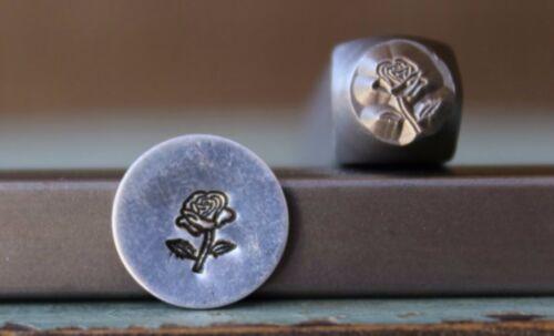SUPPLY GUY 6mm Rose Flower Metal Punch Design Stamp SGCH-173