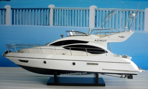"""Azimut 40 Yacht Model 24"""" - Handcrafted Wooden Model NEW"""