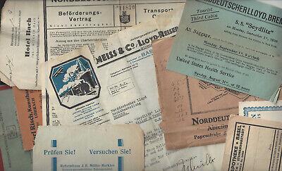 Norddeutscher Lloyd Bremen - Collection of Cruise & Tourist Items -
