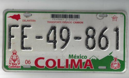 MEXICO COLIMA LICENSE PLATE