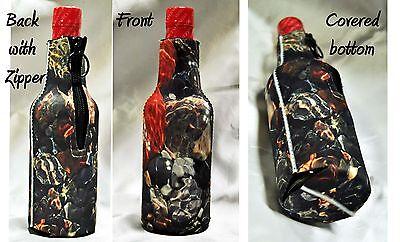 Beer Bottle Cozy (4 CUSTOM  BEER  BOTTLE COOZIE COZY PHOTOS TEXT LOGO ART TEAM WEDDINGS, PARTIES)