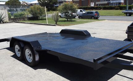 SALE! 15FT BEAVER TAIL CAR TRAILER WITH NEW TYRES & RIMS & RAMPS Brisbane North East Preview
