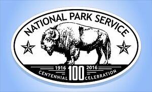 NATIONAL PARK SERVICE Centennial 100 Years Oval Bumper Sticker Travel Decal
