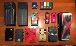 Pedals, London Fuzz, Tube Screamer, Mooer , Cry Baby