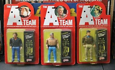 THE A-TEAM 1983 Galoob LOT - Peck + Hannibal + Murdock Sealed Action Figures HTF