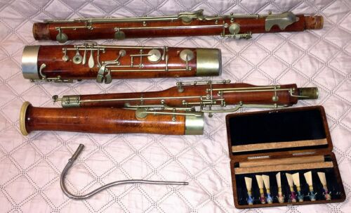 ANTIQUE/VINTAGE BASSOON BY CABART, PARIS, FRANCE - COMPLETE-NEEDS SOME ATTENTION