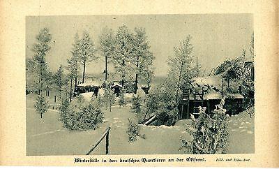 Winterstille in deutschen Quartieren an der Ostfront  Bilddokument von 1917/18