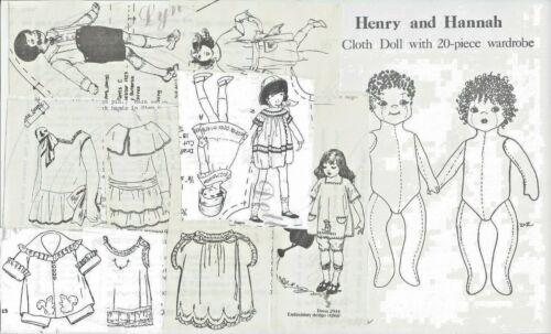 "16""CLOTH SOFT SCULPTURE ART BOY&GIRL JOINTED DOLL WARDROBE DRESS ROMPER PATTERN"