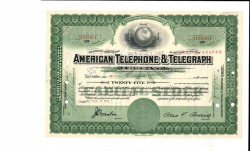Original 1971 Atlantic Telephone & Telegraph AT&T Company Stock Certificate