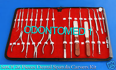 Set Of 26 Pieces Dental Ortho Instruments Spatula Carvers Composite Kit Dn-531