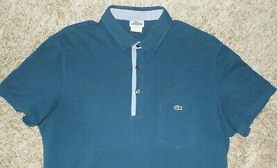 Lacoste Men's Blue Short Sleeve Polo Shirt Slim Fit Size EUR 7 US 2XL