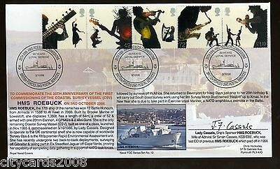 2006 Sounds of Britain   ROYAL NAVY HMS Roebuck  Cover BFPO 2943 H/S   SIGNED