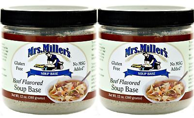 Mrs Millers Homestyle Beef Soup Base 2-12 oz Jars / Gluten Free No -