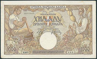 Ro.610b 1000 Dinara 1942 (1-)