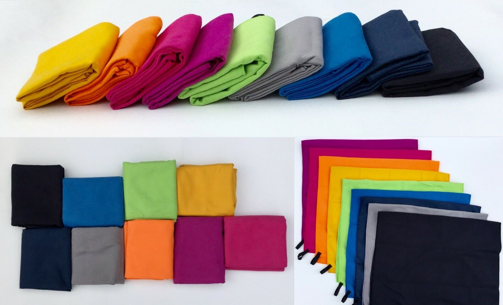 Microfiber Beach Towel Compact Fast Drying  Yoga  Travel Cam