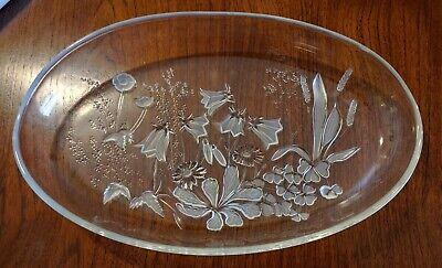 Wiesengrund, fuente de cristal con motivos en relieve, hecha a mano