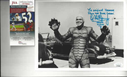 Creature From The Black Lagoon Ben Chapman autographed 8x10 photo  JSA Certified