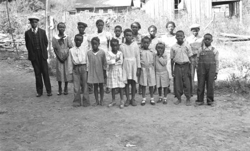 1935 Photo-Children of African-American Sharecroppers, Little Rock, Arkansas