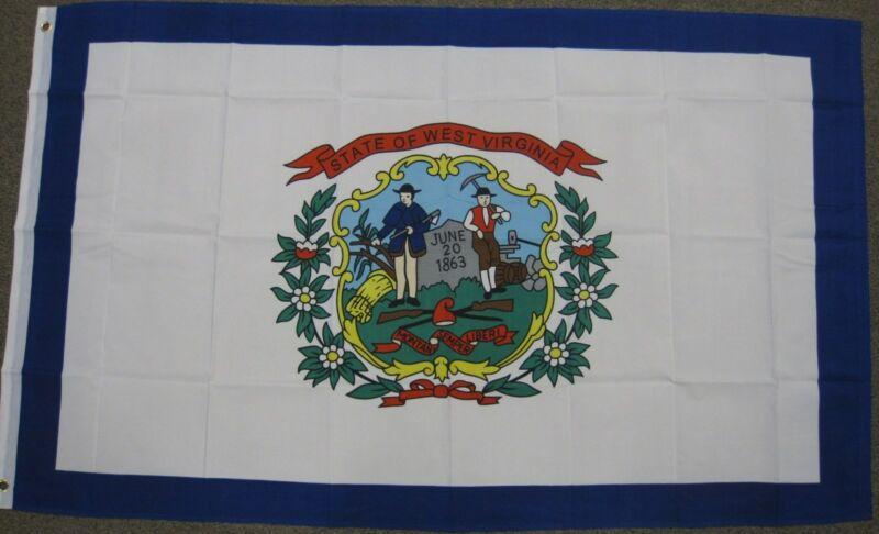 3X5 WEST VIRGINIA FLAG WV STATE NEW USA US BANNER F280