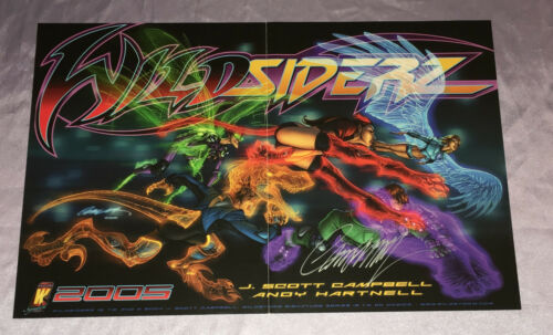 WILDSIDERZ~PROMOTIONAL ART POSTER~HAND-SIGNED BY J. SCOTT CAMPBELL~