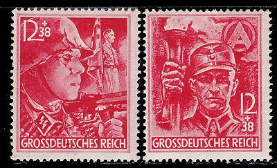 Deutsches Reich 909/10  ** Parteiorganisationen, postfrisch