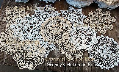 lot of 12 Hand Crochet Doilies 7