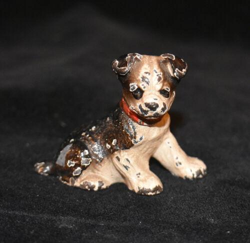 Hubley Cast Iron Miniature Dog Figurine - Boston Terrier Place Card Holder