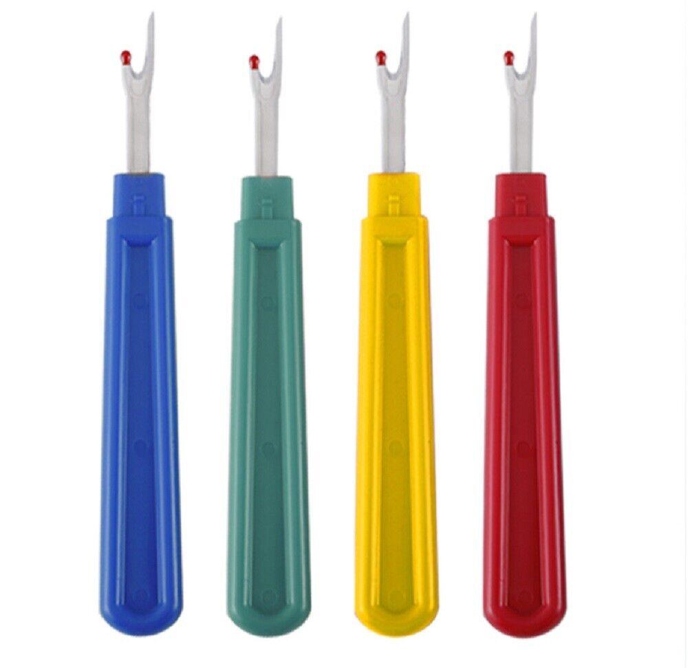 4 Stitch Ripper Plastic Handle Thread Seam Ripper Cutter Remover Sewing Craft L Crafts