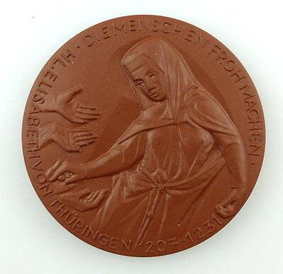 #e3740 Meissen Medaille Elisabeth - Gedenken 1981 Hl. Elisabeth von Thüringen