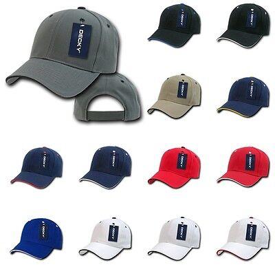 DECKY 6-Panel 16 Colors  Sandwich  Visor  Baseball  Adjustable Cap Caps Hat 2003 (Sandwich Visor Baseball Cap)